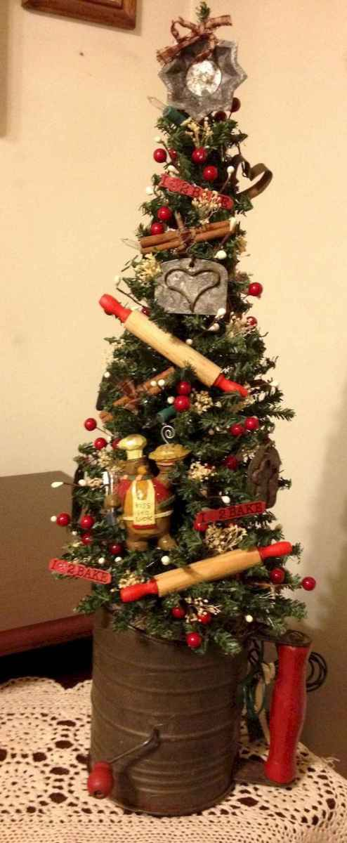 30 rustic and vintage christmas tree ideas decorations (9)
