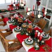 50 stunning christmas table dining rooms ideas decorations (16)