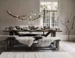 50 stunning christmas table dining rooms ideas decorations (24)