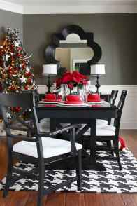 50 stunning christmas table dining rooms ideas decorations (30)
