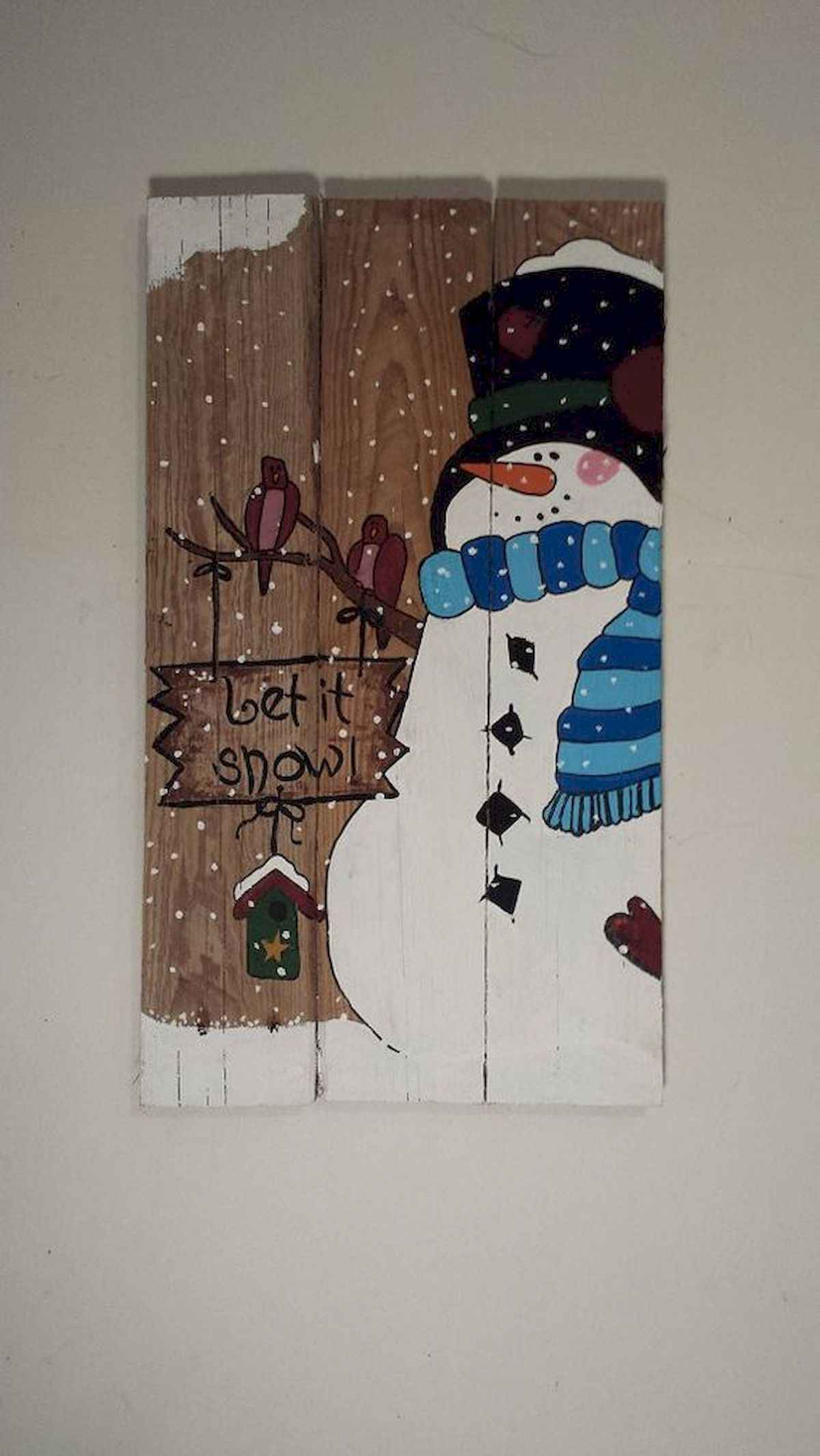 60 awesome wall art christmas ideas decorations (49)