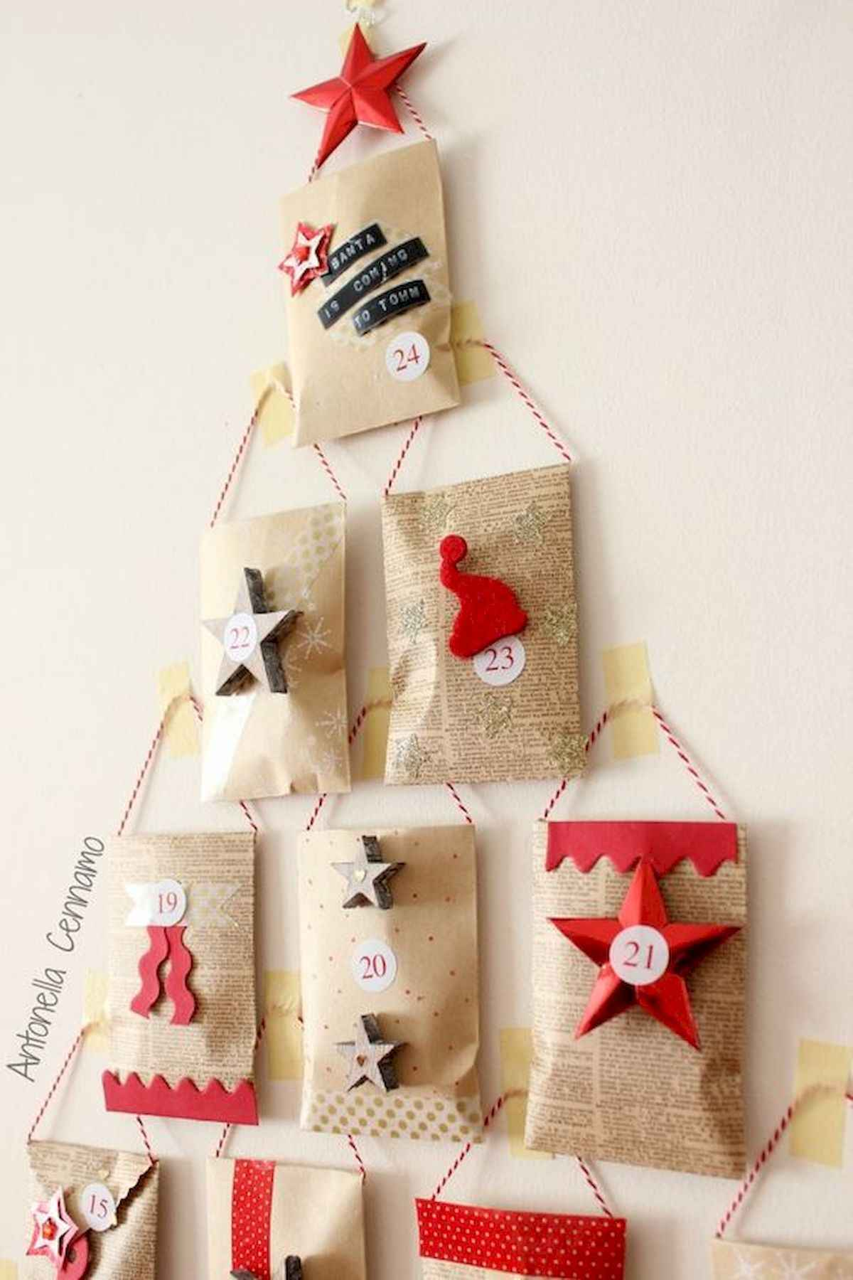 60 awesome wall art christmas ideas decorations (50)