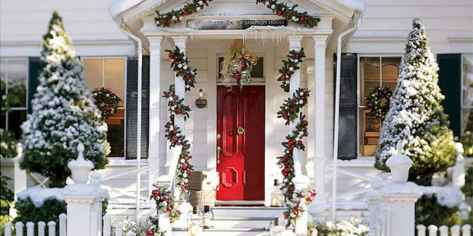 50 christmas front porch decor ideas and remodel (16)