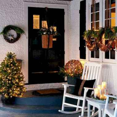 50 stunning christmas front porch decor ideas and design (30)