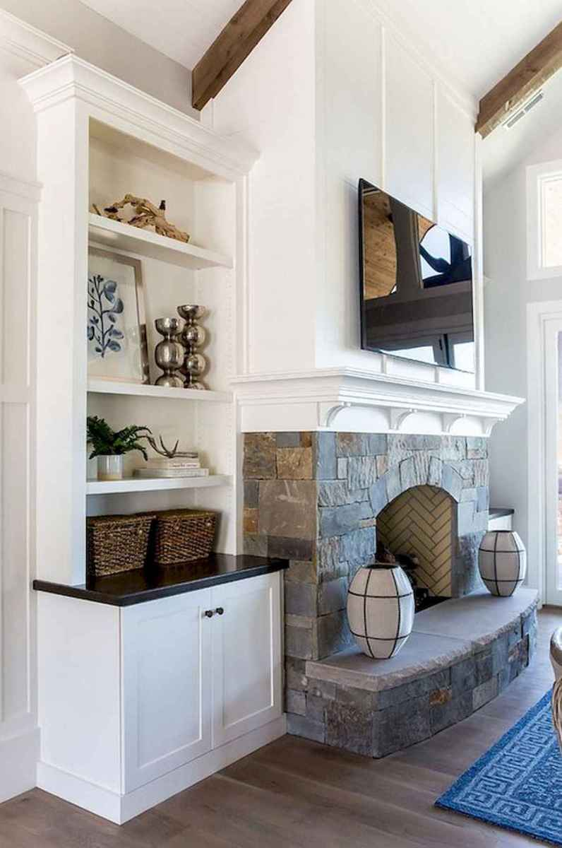 40 elegant fireplace makeover for farmhouse home decor (16)