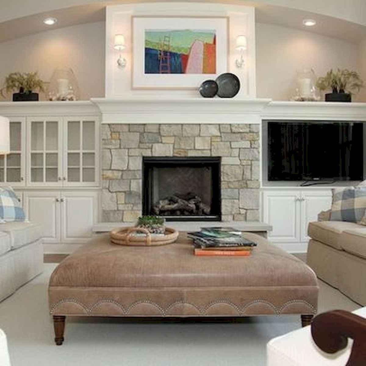 40 elegant fireplace makeover for farmhouse home decor (17)