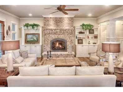 40 elegant fireplace makeover for farmhouse home decor (30)