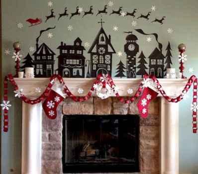 50 elegant christmas mantle decor ideas (42)