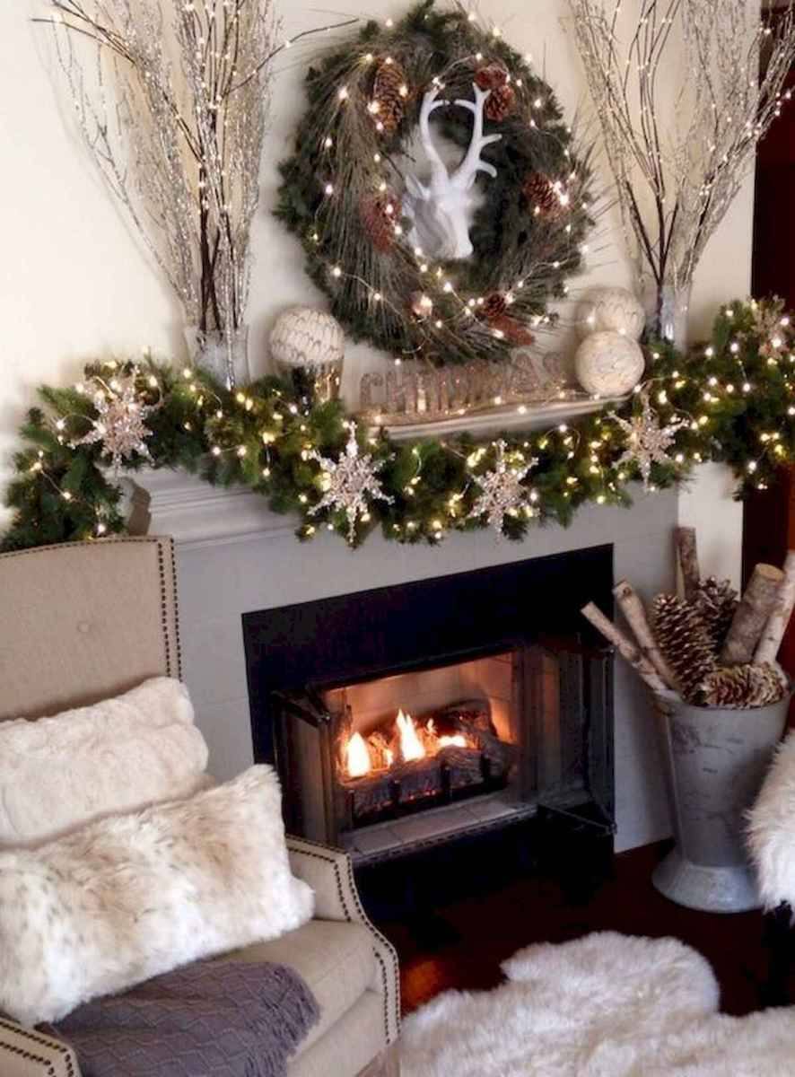50 elegant christmas mantle decor ideas (5)