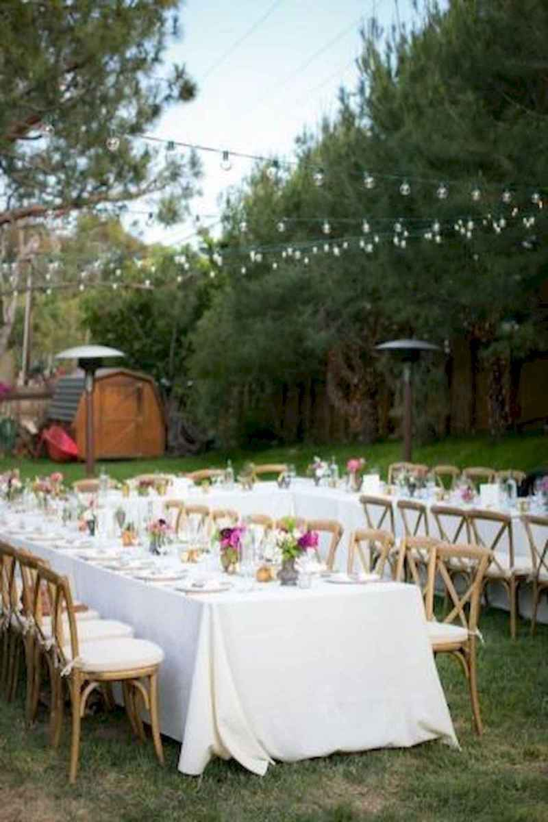 40 awesome backyard wedding decor ideas (45)