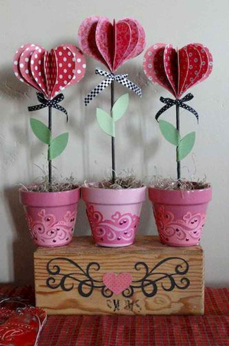 75 lovely valentines day crafts design ideas (66)