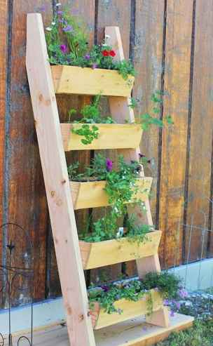 50 unique and creative ladder in the garden design ideas and remodel (13)