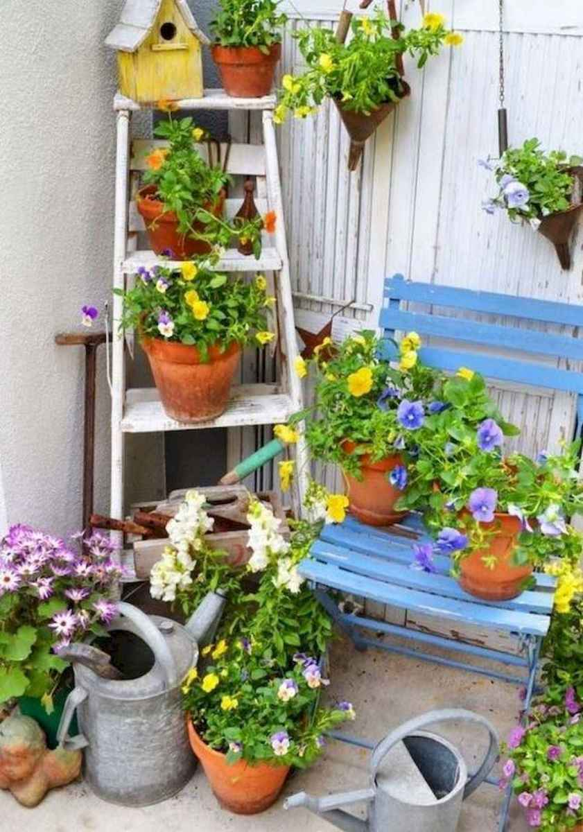 50 unique and creative ladder in the garden design ideas and remodel (19)