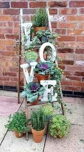 50 unique and creative ladder in the garden design ideas and remodel (20)