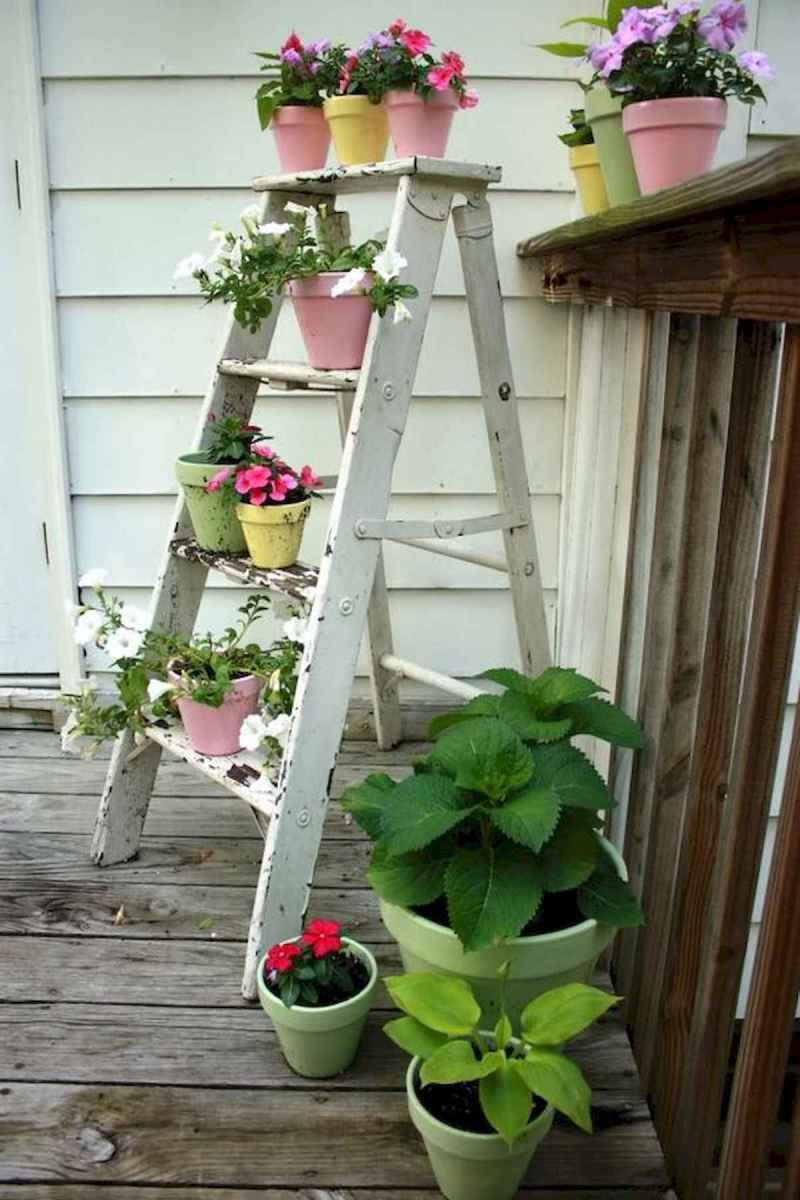 50 unique and creative ladder in the garden design ideas and remodel (39)