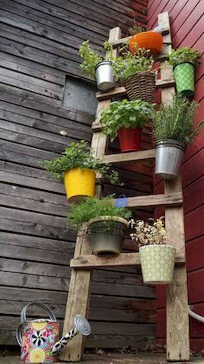 50 unique and creative ladder in the garden design ideas and remodel (47)