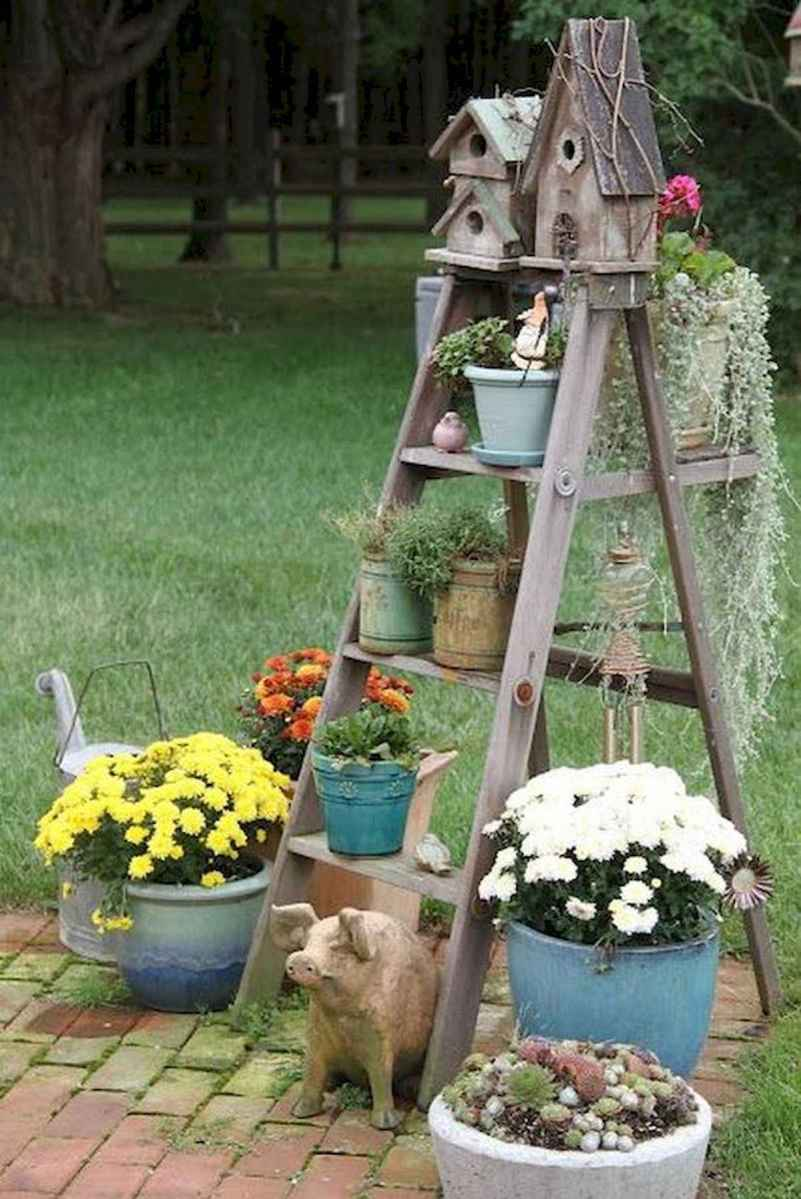 50 unique and creative ladder in the garden design ideas and remodel (9)