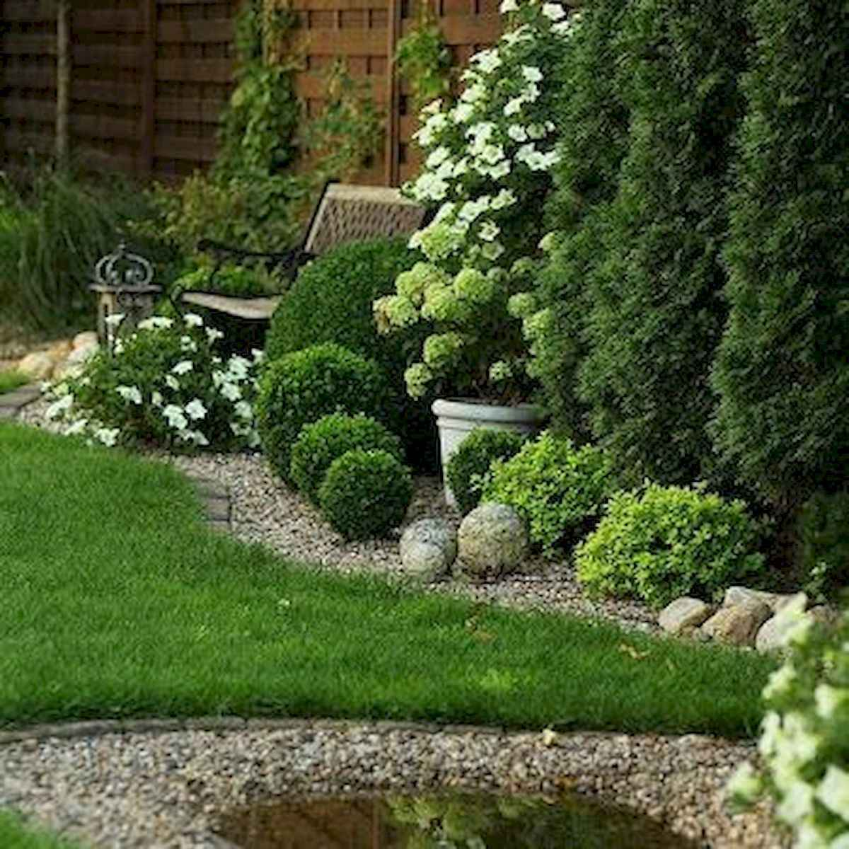 90 lovely backyard garden design ideas for summer (79)