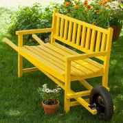 40 cheap diy outdoor bench design ideas for backyard & frontyard (3)