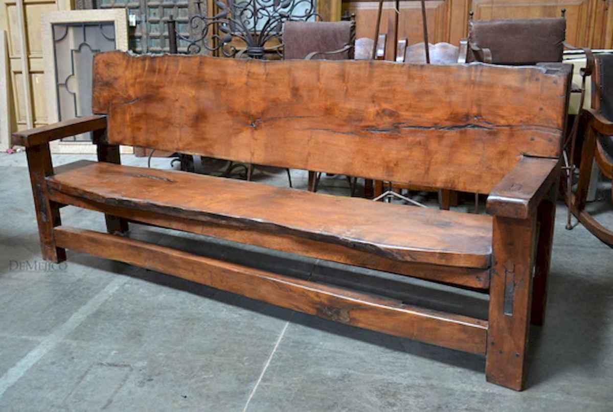 40 cheap diy outdoor bench design ideas for backyard & frontyard (31)