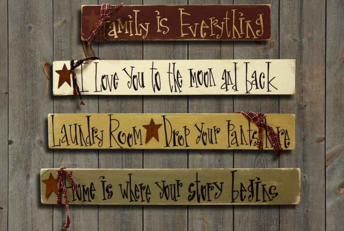48 rustic wood sign ideas with motivation quotes (14)