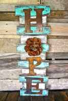 48 rustic wood sign ideas with motivation quotes (37)