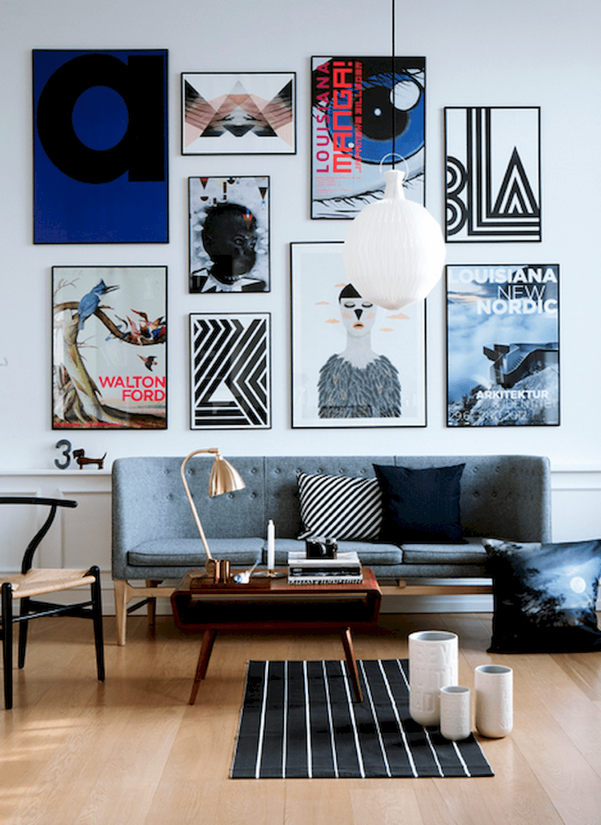 50 beautiful gallery wall ideas to show your photos (4)