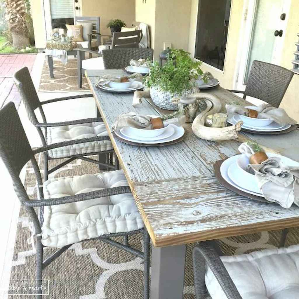 55 rustic outdoor patio table design ideas diy on a budget (14)