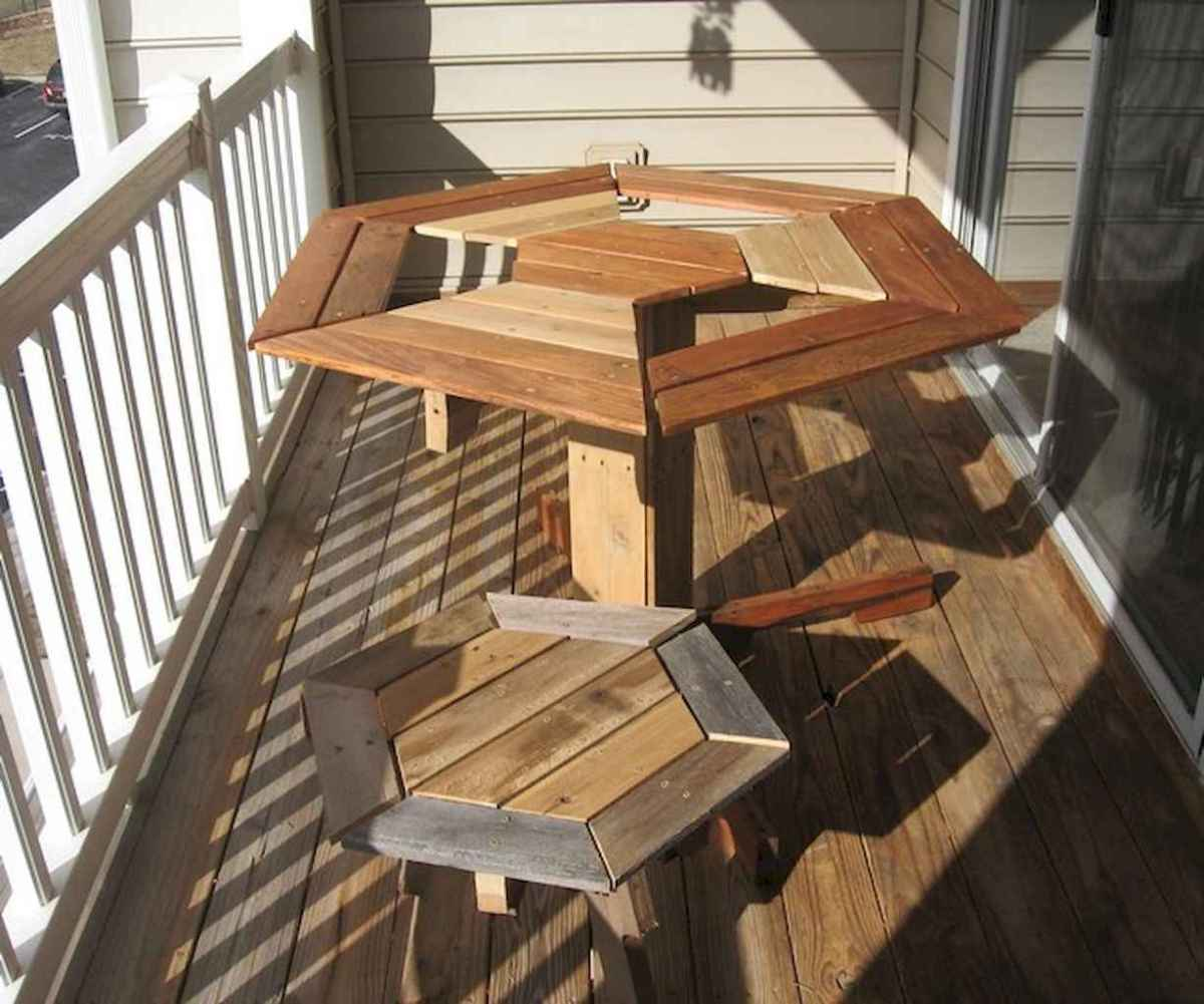 55 rustic outdoor patio table design ideas diy on a budget (28)