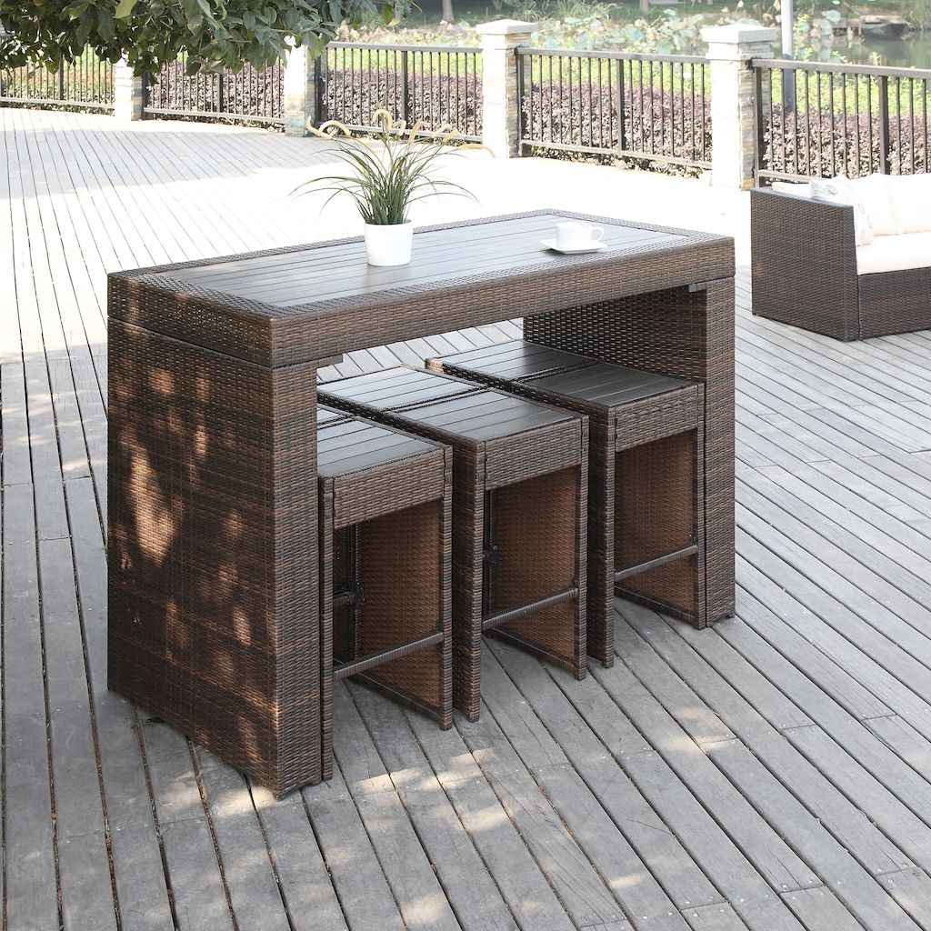 55 rustic outdoor patio table design ideas diy on a budget (30)