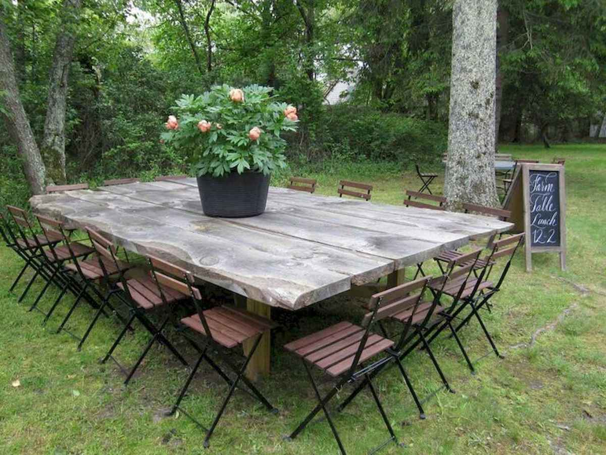 55 rustic outdoor patio table design ideas diy on a budget (33)