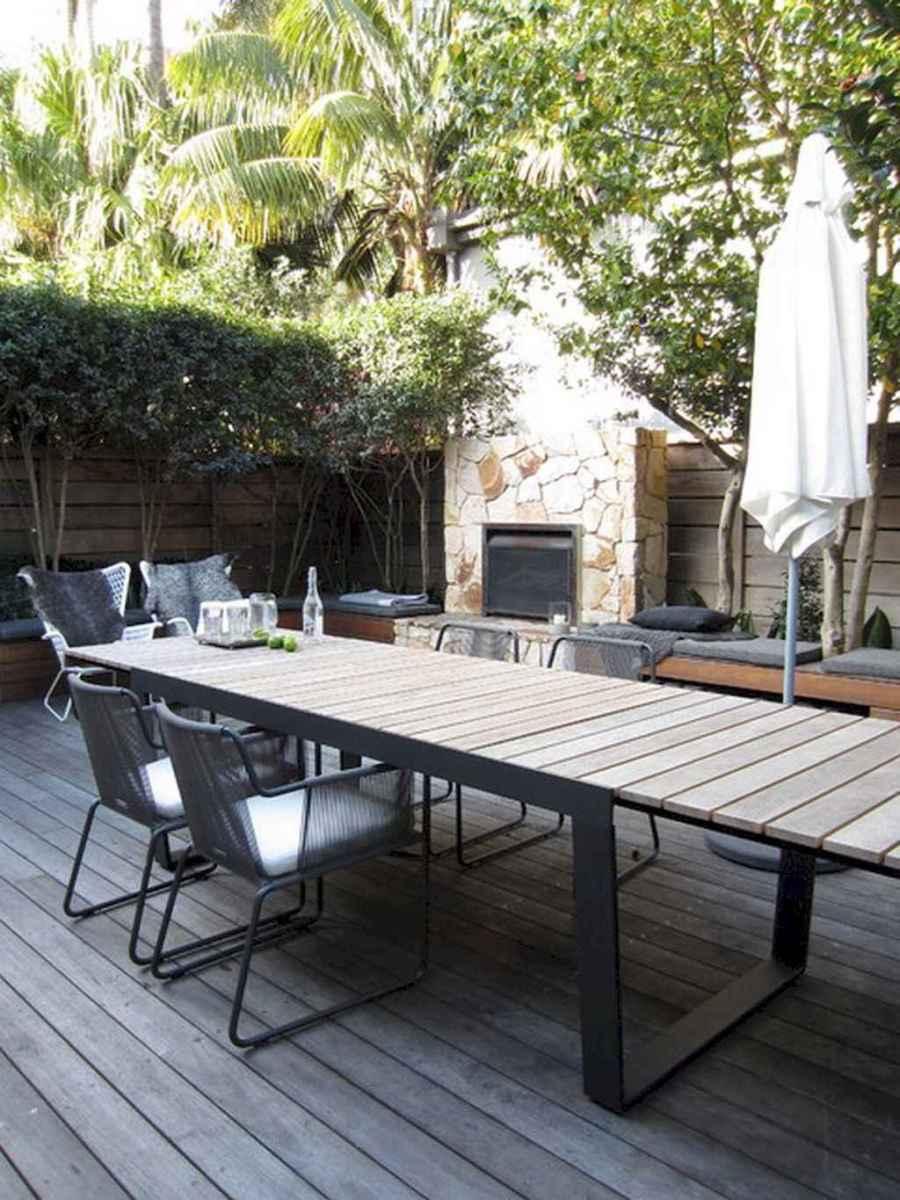 55 rustic outdoor patio table design ideas diy on a budget (35)