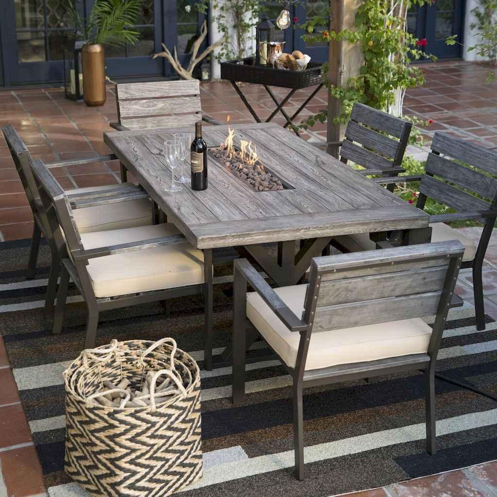 55 rustic outdoor patio table design ideas diy on a budget (38)