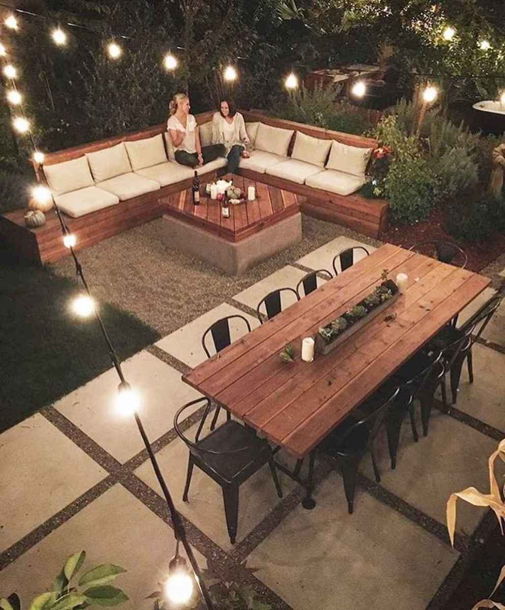55 rustic outdoor patio table design ideas diy on a budget (55)