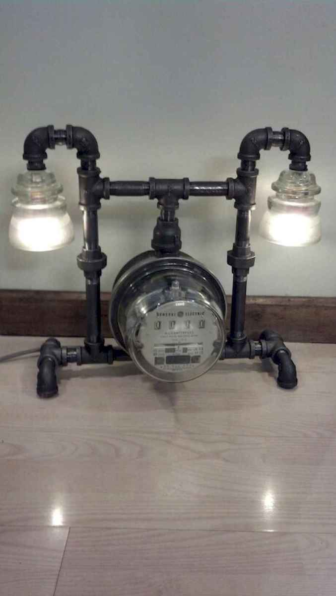 70 cheap diy industrial pipe lamps ideas to decor your home (19)