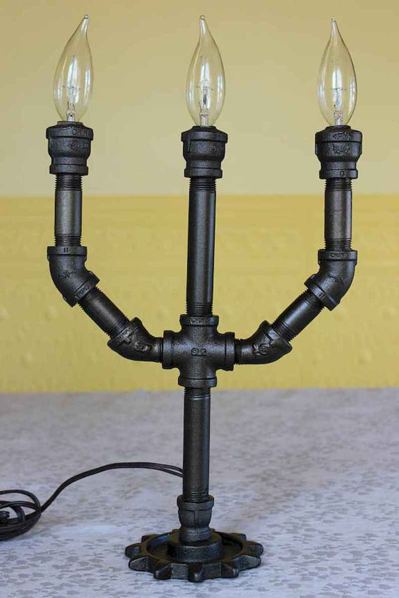 70 cheap diy industrial pipe lamps ideas to decor your home (23)
