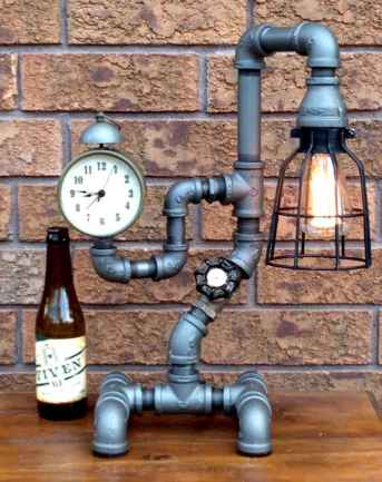 70 cheap diy industrial pipe lamps ideas to decor your home (38)