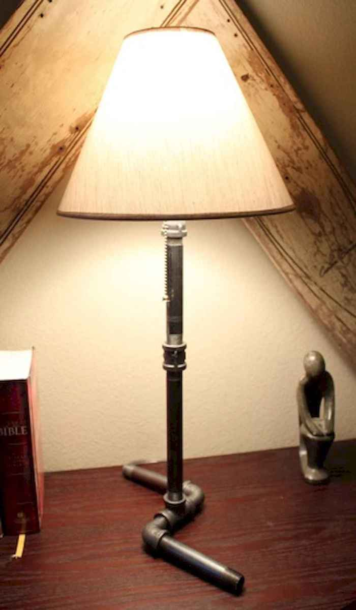 70 cheap diy industrial pipe lamps ideas to decor your home (58)