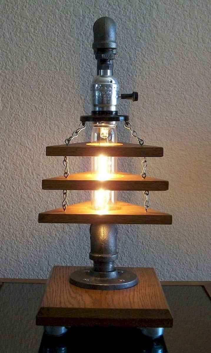 70 cheap diy industrial pipe lamps ideas to decor your home (61)