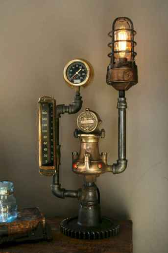 70 cheap diy industrial pipe lamps ideas to decor your home (66)