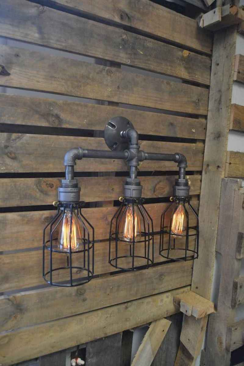 70 cheap diy industrial pipe lamps ideas to decor your home (70)