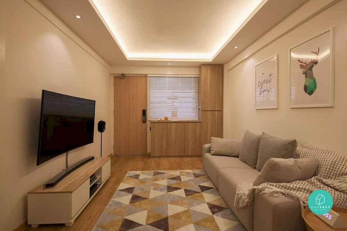 Best small apartment living room layout ideas (35)