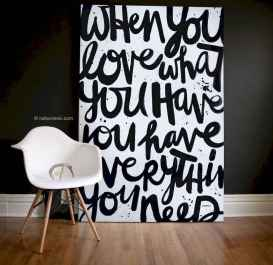 Best wall decoration canvas painting ideas with inspirational quotes (41)