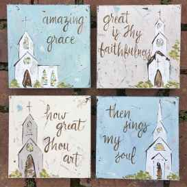 Best wall decoration canvas painting ideas with inspirational quotes (42)
