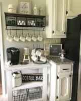 Diy home coffee bar ideas for coffee addict (30)