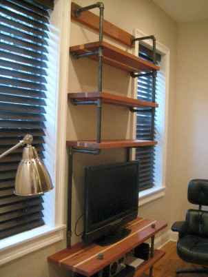 Easy diy pipe shelves ideas on a budget (28)