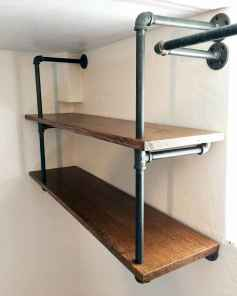 Easy diy pipe shelves ideas on a budget (57)