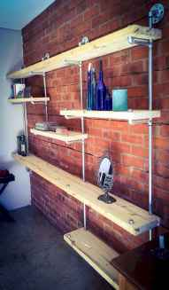 Easy diy pipe shelves ideas on a budget (6)