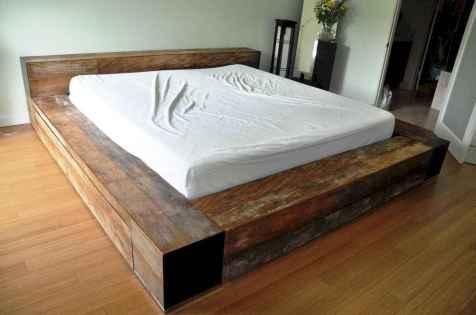 Elegant diy wooden platform bed design ideas (1)