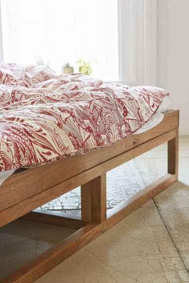 Elegant diy wooden platform bed design ideas (21)